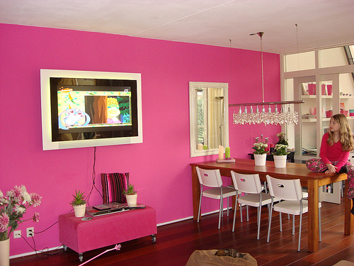 Paredes rosa i love pink moda beleza novidades rosa - Colores para pintar una casa interior ...