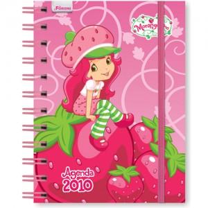 agenda cor-de-rosa Moranguinho