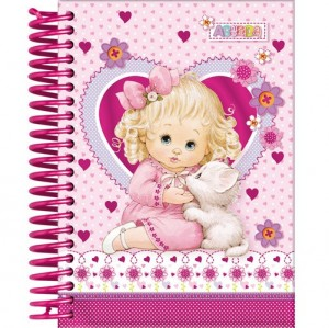 agenda cor-de-rosa