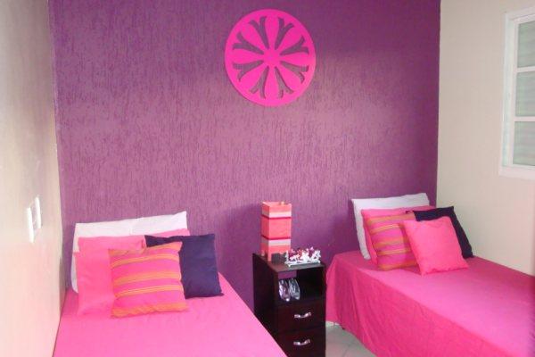 Meu quarto Cor de Rosa Vanessa I Love Pink moda