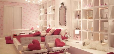 suite da menina - decoração cor-de-rosa e branco - casa cor 2010