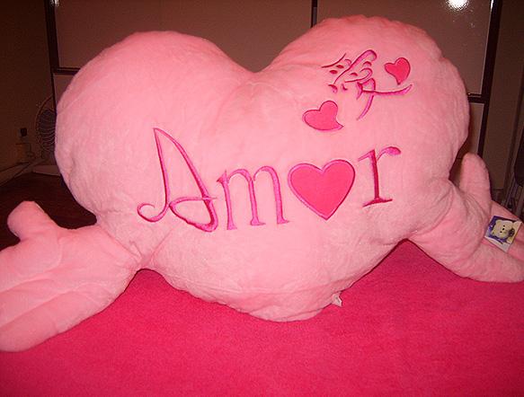 Almofada cor-de-rosa da blogueira Evelyn