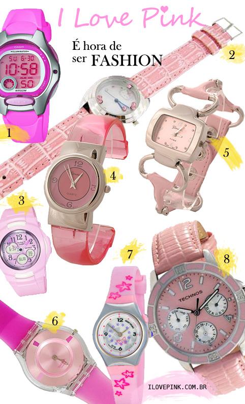 Relógios cor-de-rosa - I Love Pink