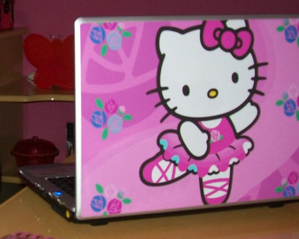 Notebook cor-de-rosa da Hello Kitty- I Love Pink