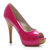 Peep Toe Pink Lara Costa