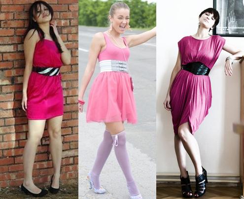 Como usar vestido rosa com cinto