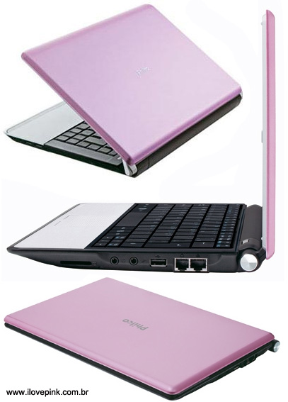 I Love Pink - Netbook rosa Philco