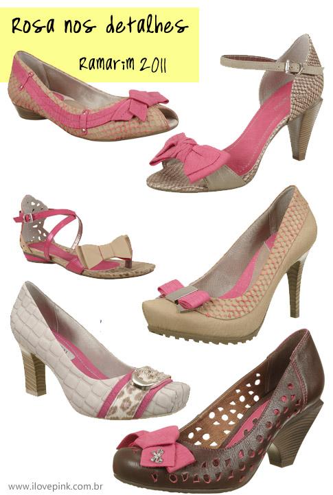 I Love Pink - sapatos rosa Ramarim coleção outono inverno 2011