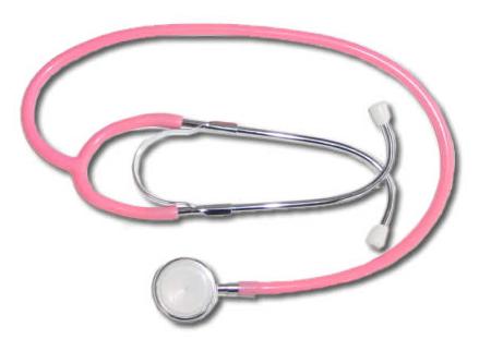 Equipamentos de enfermagem cor de rosa