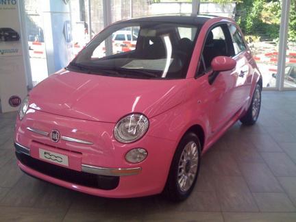 Carro cor de rosa - Fiat 500 Pink
