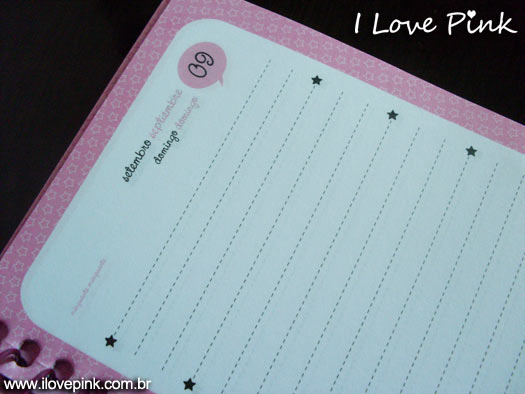 Agenda cor de rosa: Hello Kitty
