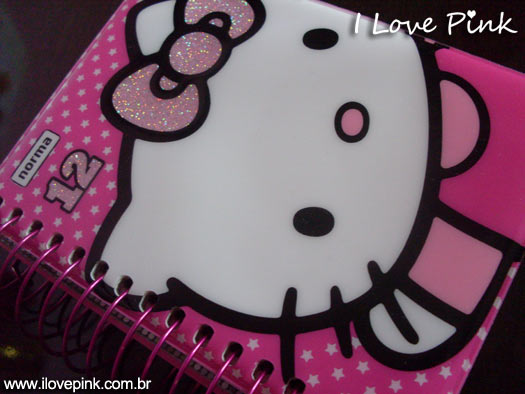 Agenda cor de rosa: Hello Kitty - capa