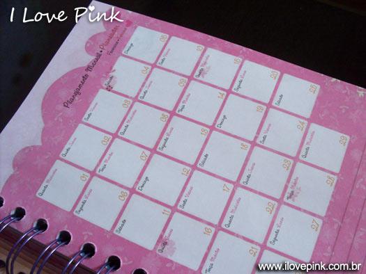Agenda Cor de Rosa 2012: Marie (Norma) - planejamento mensal