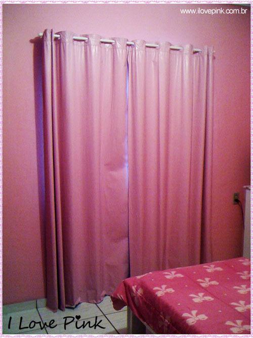 I Love Pink - Meu Quarto Cor de Rosa: Bruna - cortina blecaute cor de rosa