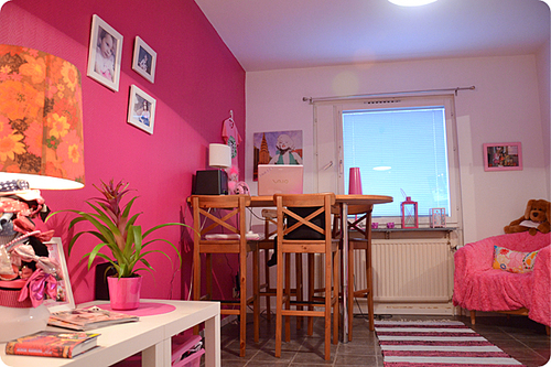 decoracao sala kitnet : decoracao sala kitnet:Kitnet pink