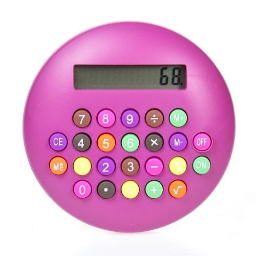 calculadora confete  rosa