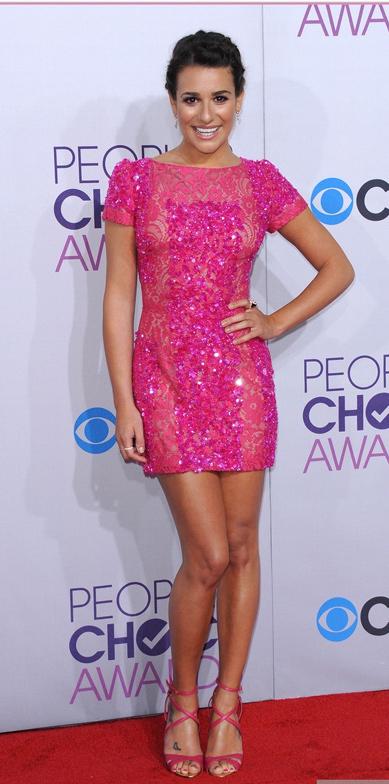 Look rosa - Lea Michele