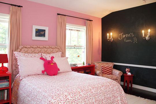 Paredes rosa i love pink moda beleza novidades rosa for Black and pink girls bedroom ideas