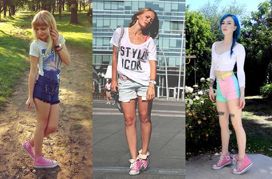 Como usar tênis All Star Converse rosa