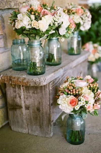 Decoração de casamento: rosa e rústico