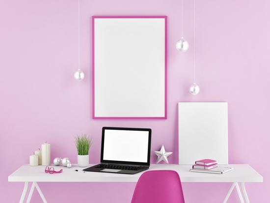 decoracao-rosa-home-office