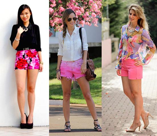 Como usar short rosa com camisa
