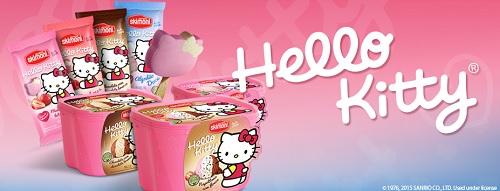 sorvete hello kitty