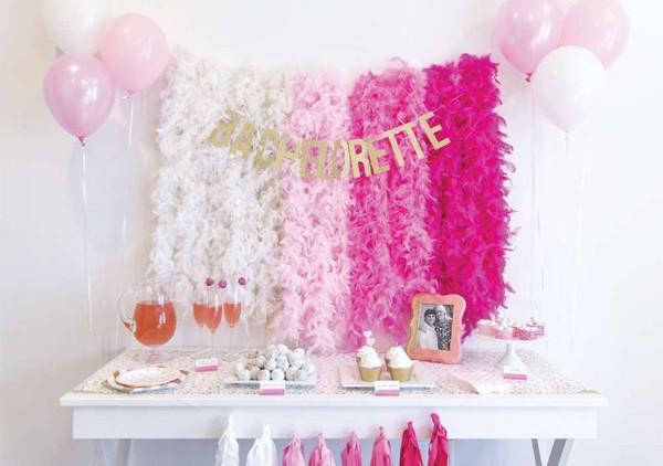 Decoração para festa: degradê rosa