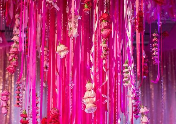Decoração de festa pink