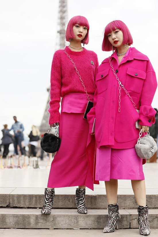 Pink é a nova tendência do Paris Fashion Week
