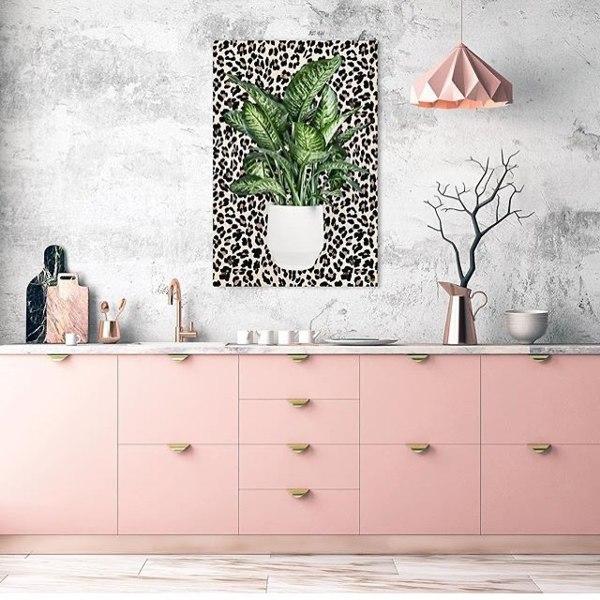 Cozinhas cor de rosa