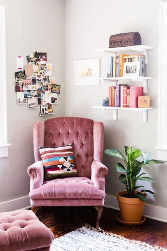 Decoração de quarto feminino cor de rosa