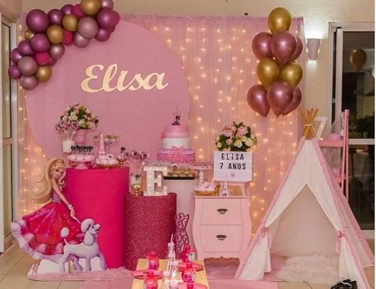 Decorações lindas para festa Barbie cor de rosa