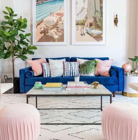 Ideia de decoração cor de rosa