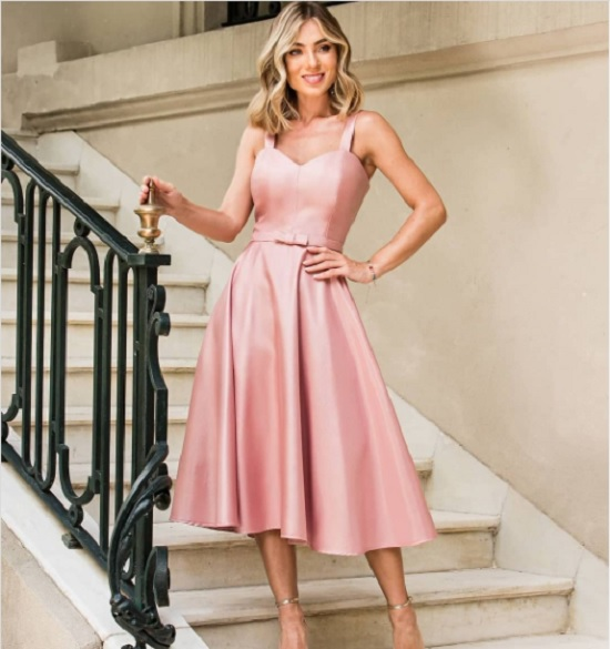 Vestidos cor de rosa para madrinha