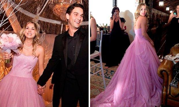 Noiva de Vestido Cor de Rosa