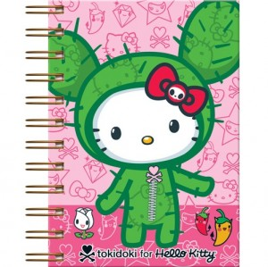 agenda cor-de-rosa Hello Kitty