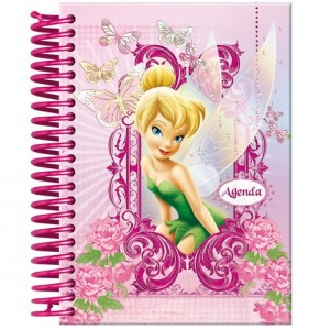 agenda cor-de-rosa Sininho