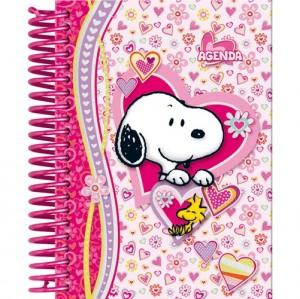 agenda cor-de-rosa Snoopy