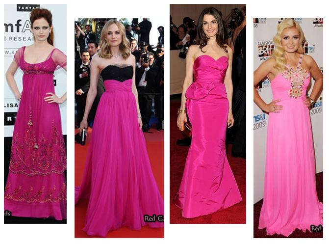 Modelos longos de vestidos cor-de-rosa - i love pink