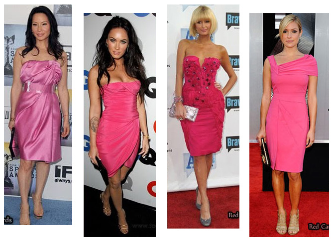 Modelos curtos de vestidos cor-de-rosa - i love pink