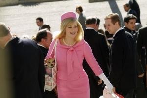 roupas cor-de-rosa da Legalmente Loira