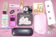 Itens da bolsa da blogueira Tamara - I Love Pink