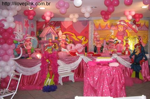 Decoracao de festa de aniversário da Penelope Charmosa - I Love Pink