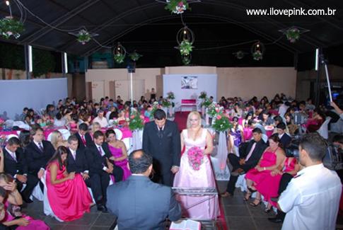 I Love Pink - Vestido de Noiva Cor-de-Rosa