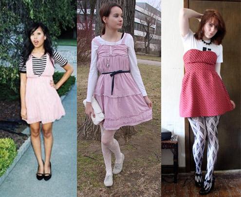 Como usar vestido rosa com camiseta