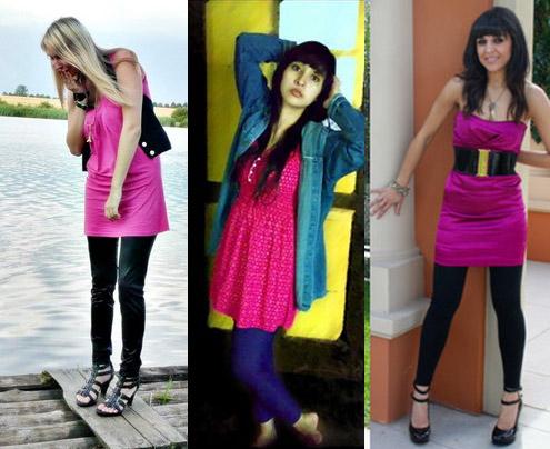Como usar vestido rosa com legging