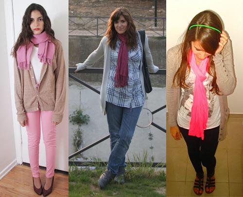 I Love Pink - como usar cachecol rosa