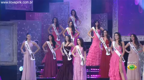 I Love Pink - Vestidos cor de rosa do Miss Brasil 2011