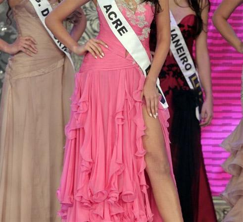 I Love Pink - Vestidos cor de rosa no Miss Brasil 2011